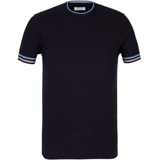 Square Knit Short Sleeve Pullover-new online-Fifth Avenue Menswear