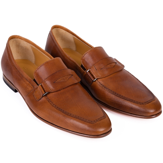 Rickman Tan Leather Loafer-new online-Fifth Avenue Menswear