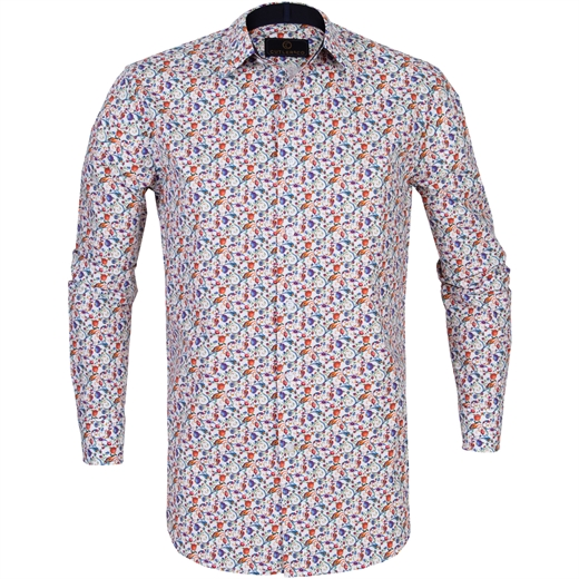 Seth Floral Vine Stretch Cotton Shirt-new online-Fifth Avenue Menswear