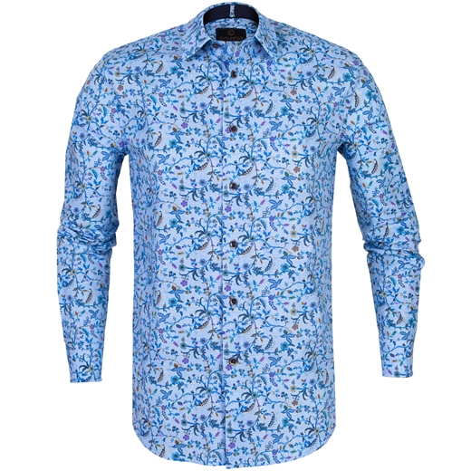 Blake Vine Floral Stretch Cotton Shirt-new online-Fifth Avenue Menswear