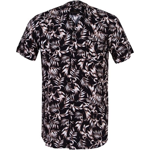 Duke Plam Leaves Print Casual Shirt-new online-Fifth Avenue Menswear