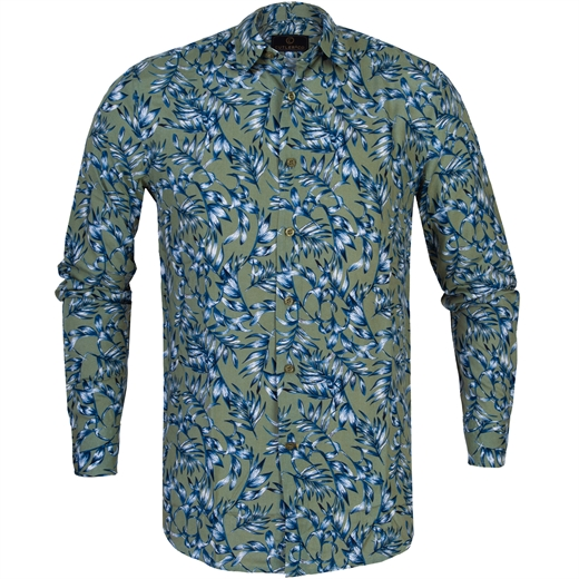 Blake Palm Leaves Print Casual Shirt-new online-Fifth Avenue Menswear
