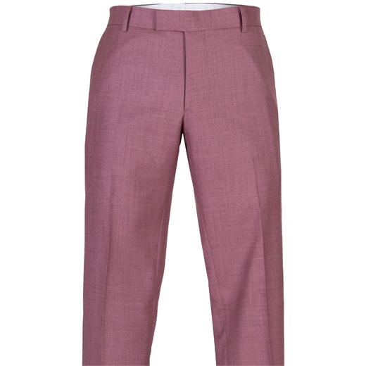 Pink Caper Wool Dress Trousers-new online-Fifth Avenue Menswear