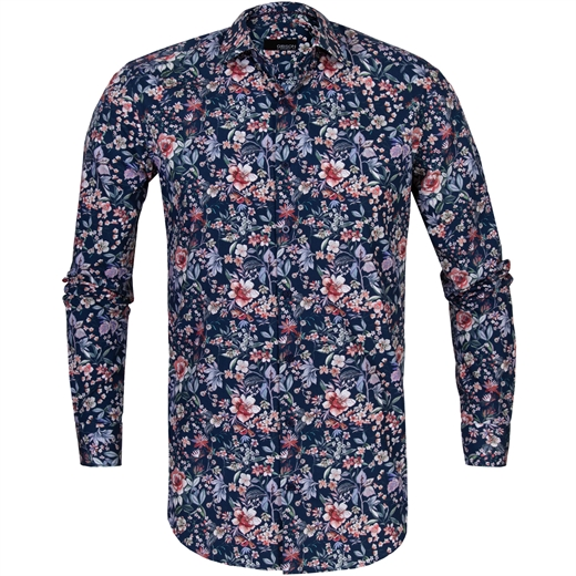 Slim Fit Motion Floral Cotton Shirt-new online-Fifth Avenue Menswear