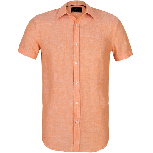 Brody Short Sleeve Casual Linen Shirt-holiday-Fifth Avenue Menswear