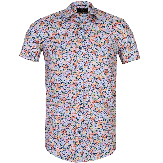 Brody Floral Stretch Cotton Shirt-new online-Fifth Avenue Menswear
