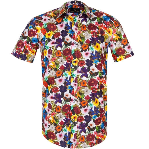 Brody Bright Floral Stretch Cotton Shirt-new online-Fifth Avenue Menswear