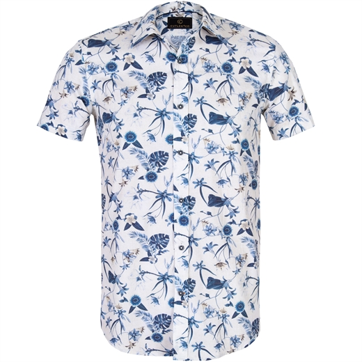 Duke Floral Casual Cotton Shirt-new online-Fifth Avenue Menswear