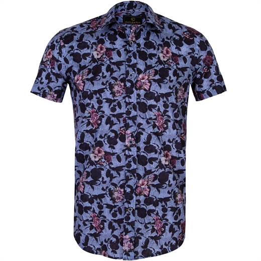 Brody Shadow Floral Stretch Cotton Shirt-new online-Fifth Avenue Menswear