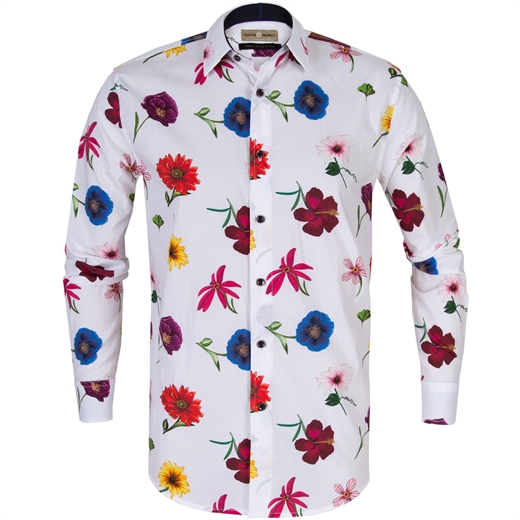 Seth Big Floral Stretch Cotton Shirt-new online-Fifth Avenue Menswear