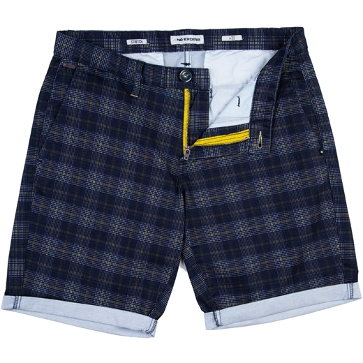 Check Brushed Stretch Cotton Shorts-new online-Fifth Avenue Menswear