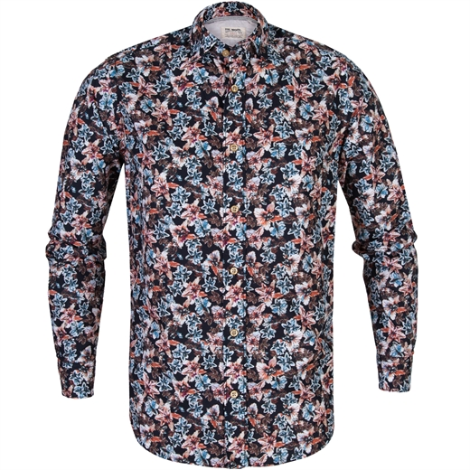 Treviso Floral Print Casual Cotton Shirt-new online-Fifth Avenue Menswear