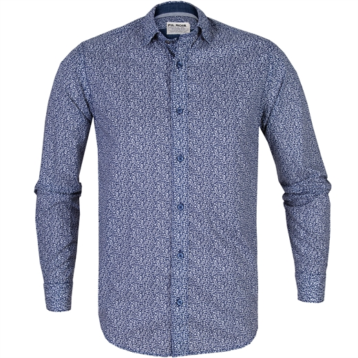 Roma Micro Floral Casual Cotton Shirt-new online-Fifth Avenue Menswear