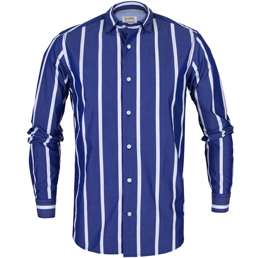 Roma Bold Stripe Casual Cotton Shirt-new online-Fifth Avenue Menswear