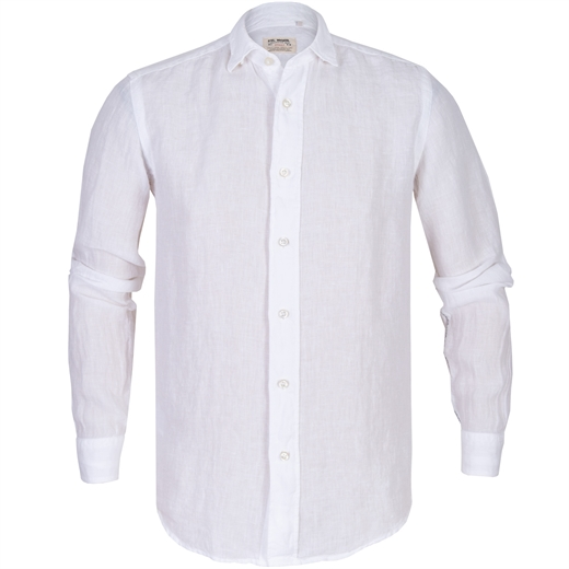 Roma Supersoft Wash Basetti Linen Casual Shirt-new online-Fifth Avenue Menswear