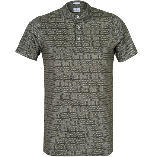 Slim Fit Polo With Linked Rings Print-new online-Fifth Avenue Menswear
