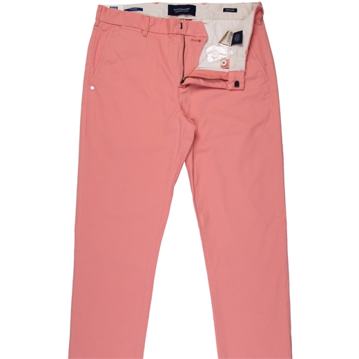 Stuart Pink Stretch Cotton Chinos-trousers-Fifth Avenue Menswear