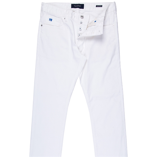 Ralston White Stretch Denim Jeans-jeans-Fifth Avenue Menswear