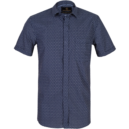 Roman Geometric Print Casual Shirt-new online-Fifth Avenue Menswear