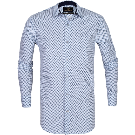 Seth Geometric Print Casual Shirt-new online-Fifth Avenue Menswear