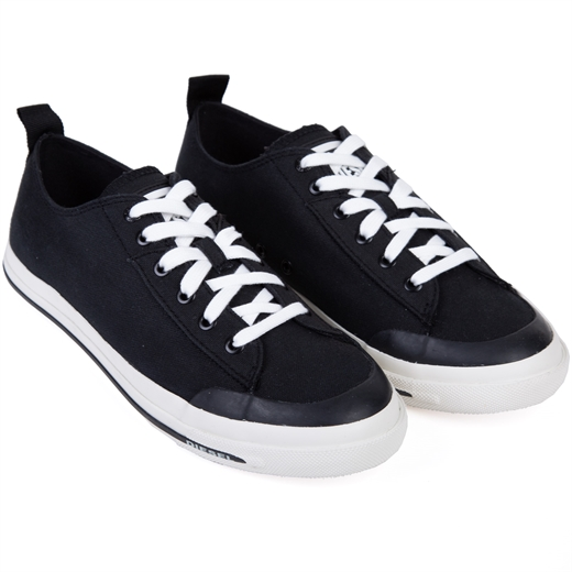 Astico Black Canvas Sneakers-new online-Fifth Avenue Menswear