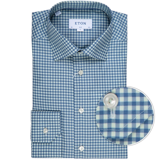 Slim Fit Luxury Gingham Check Dress Shirt-new online-Fifth Avenue Menswear