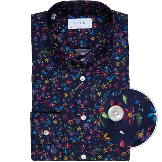 Contemporary Fit Luxury Floral Print Dress Shirt-new online-Fifth Avenue Menswear