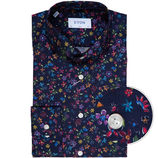 Slim Fit Luxury Floral Print Dress Shirt-new online-Fifth Avenue Menswear