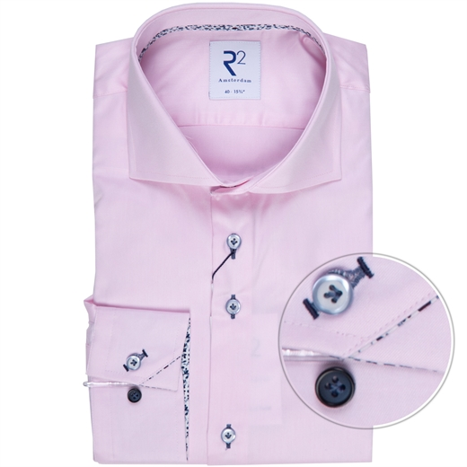Luxury Cotton Twill Dress Shirt With Floral Trim-new online-Fifth Avenue Menswear