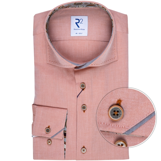 Luxury Cotton Twill Shirt With Paisley Trim-new online-Fifth Avenue Menswear