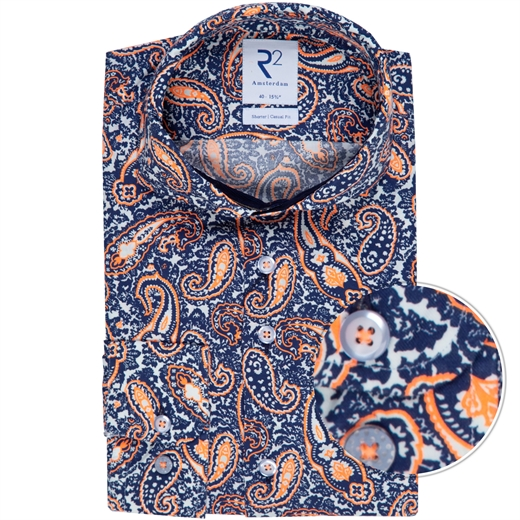 Luxury Cotton Paisley Print Shirt-new online-Fifth Avenue Menswear