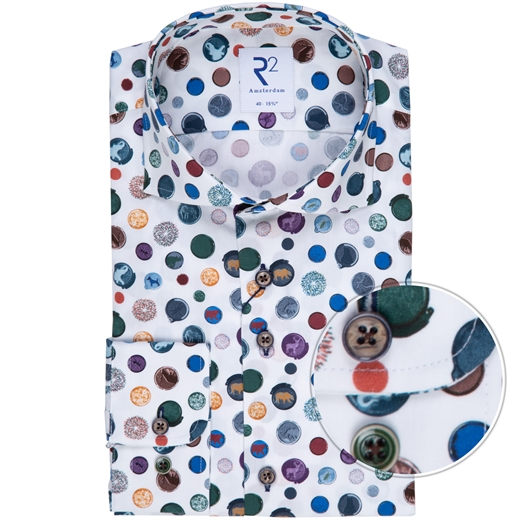 Luxury Cotton Spots Print Dress Shirt-new online-Fifth Avenue Menswear