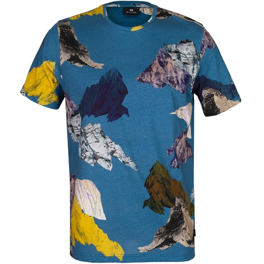 Mountain Collage Print T-Shirt-new online-Fifth Avenue Menswear