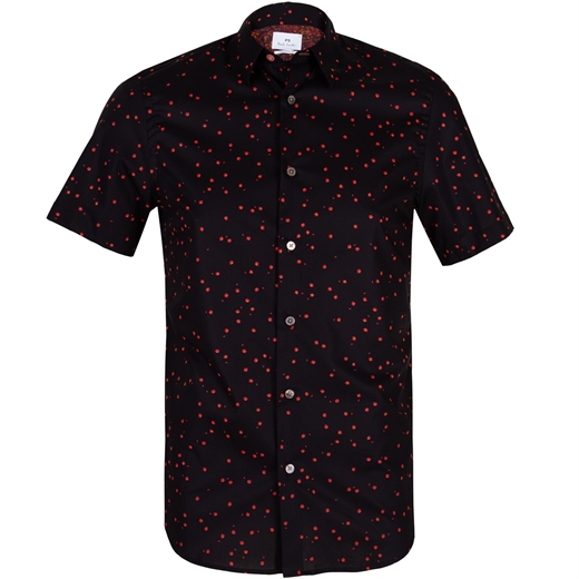 Mini Flowers Print Stretch Cotton Shirt-new online-Fifth Avenue Menswear