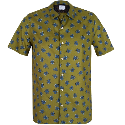 Casual Fit Big Flowers Print Shirt-new online-Fifth Avenue Menswear