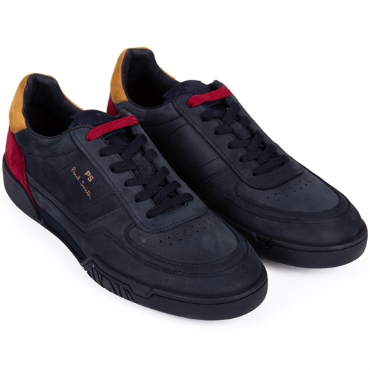 Atlas Dark Navy Nubuck Sneakers-new online-Fifth Avenue Menswear