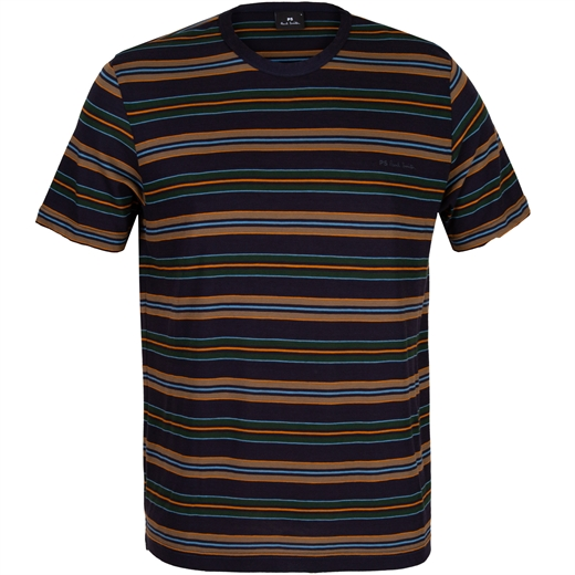 Navy Stripe Crew Neck T-Shirt-new online-Fifth Avenue Menswear