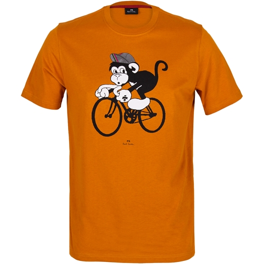 Organic Cotton Cycling Monkey T-Shirt-new online-Fifth Avenue Menswear