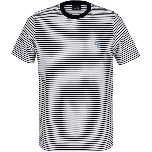 Stripe T-Shirt With Scribble Zebra Logo-new online-Fifth Avenue Menswear