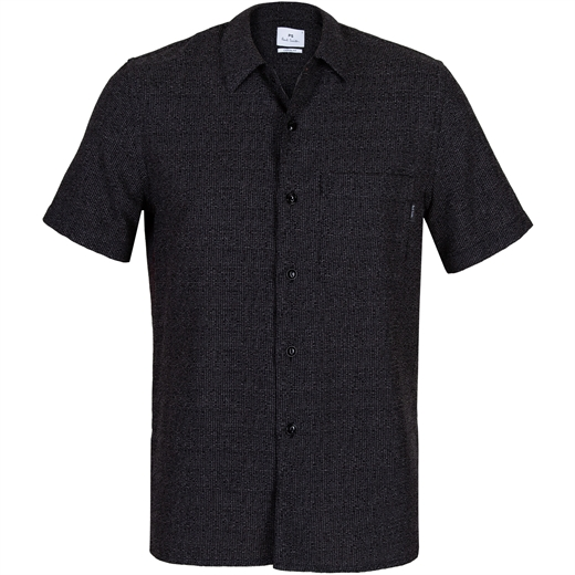 Classic Fit Loose Weave Micro Check Shirt-new online-Fifth Avenue Menswear