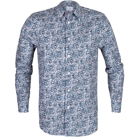 Tailored Fit Minil Mountains Print Shirt-new online-Fifth Avenue Menswear