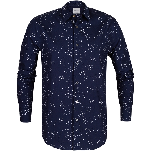Tailored Fit Bird Print Shirt-new online-Fifth Avenue Menswear