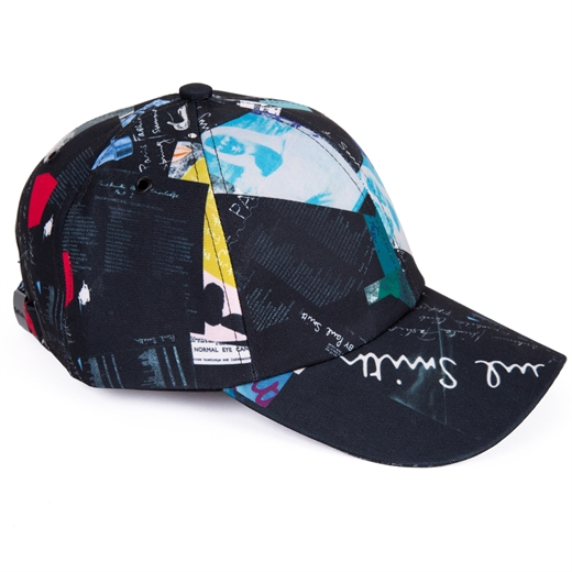 Collage Print Baseball Cap-new online-Fifth Avenue Menswear