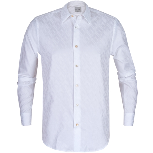 Luxury Cotton Jacquard Pattern Dress Shirt-new online-Fifth Avenue Menswear