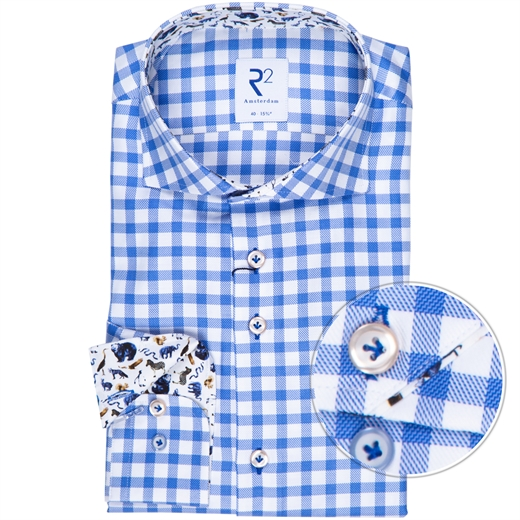 Luxury Cotton Gingham Check Shirt-new online-Fifth Avenue Menswear