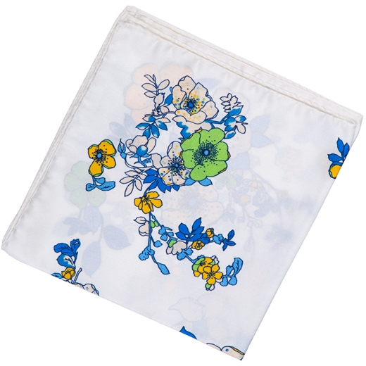 Flowers Print Silk Pocket Square-new online-Fifth Avenue Menswear