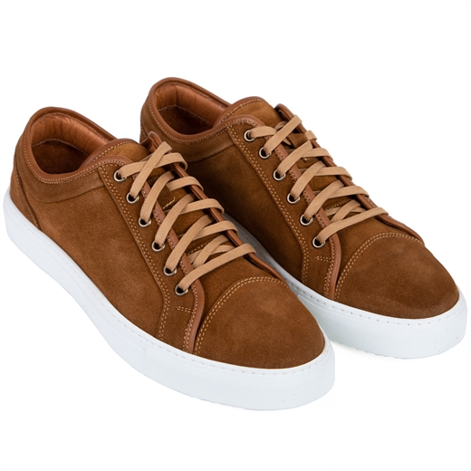 Logan Camel Suede Sneakers-new online-Fifth Avenue Menswear