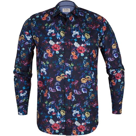 Treviso Albini Floral Print Casual Cotton Shirt-new online-Fifth Avenue Menswear