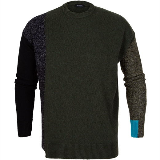 K-Moses Contrast Sleeve Panel Pullover-new online-Fifth Avenue Menswear