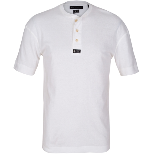 Grandad Collar Button Front T-Shirt-new online-Fifth Avenue Menswear